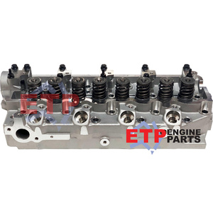 Assembled Cylinder Head for Mitsubishi 4D56 - Valve sit above head face